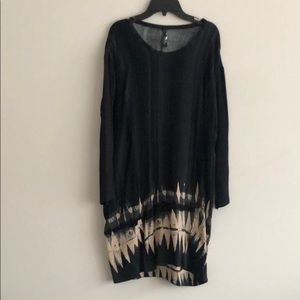 Plenty by Tracy Reese shift black ikat shift dress